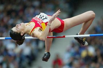 Ruth Beitia in action in Paris World Champs (Getty Images)