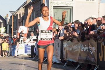 Birhane Mihretu Gebrekidan wins the Corrida de Langueux (Organisers)