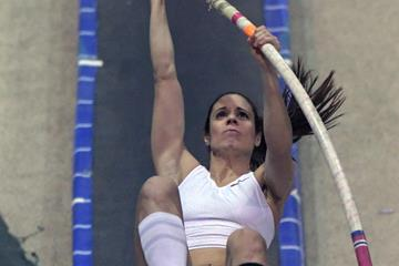 Katerini Stefanidi at the Pole Vault Summit in Reno (Kirby Lee)