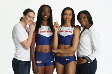 From left: Kelly Sotherton, Lorraine Ugen, Morgan Lake and Denise Lewis (Getty Images)