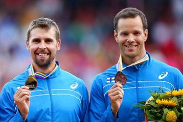 Finnish javelin throwers Antti Ruuskanen and Tero Pitkamaki (Getty Images)