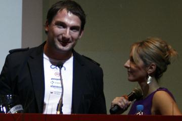 Reigning World and Olympic Hammer Throw champion Primoz Kozmus winning the 2009 Slovenian Athlete of the Year award in Ljubljana (Bob Ramsak)