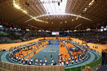 The opening ceremony of the 12th IAAF World Indoor Championships in Valencia (Getty Images)