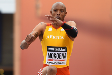 Godfrey Mokoena in the triple jump at the IAAF Continental Cup Marrakech 2014 (Getty Images)