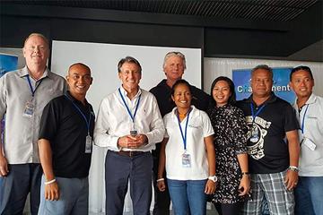 IAAF President Sebastian Coe at the Oceania Athletics Association council meeting (OAA)