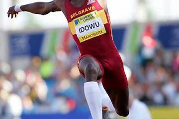 Phillips Idowu of Belgrave Harriers in the Triple Jump in Manchester (Getty Images)