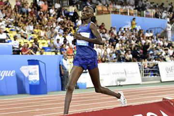 Asbel Kiprop at the 2016 IAAF Diamond League in Doha (Hasse Sjogren)
