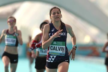 Clemence Calvin at the 2018 World Half Marathon Championships (Jean Pierre Durand)