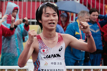 Eiki Takahashi at the IAAF World Race Walking Cup Taicang 2014 (Getty Images)