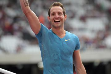 Renaud Lavillenie at the 2015 IAAF Diamond League meeting in London (Kirby Lee)