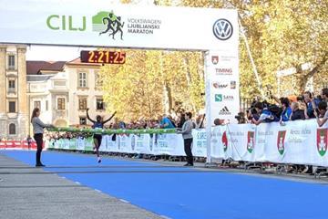Bornes Chepkirui Kitur wins the Ljubljana Marathon (Organisers)