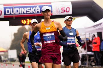 Matej Toth in action in Dudince (Milan Duroch, Slovak Athletics Federation)
