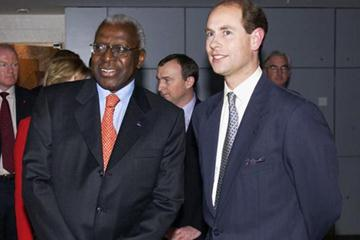 IAAF President Lamine Diack and the Earl of Wessex (Getty Images)