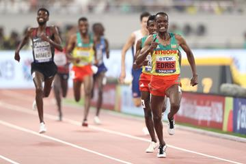 Muktar Edris wins the 5000m at the IAAF World Athletics Championships Doha 2019 (Getty Images)