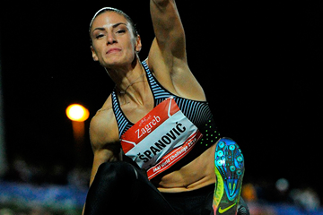 Ivana Spanovic in the long jump at the IAAF World Challenge meeting in Zagreb (Organisers)