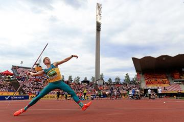 Ashley Moloney in the decathlon javelin at the IAAF World U20 Championships Tampere 2018 (Getty Images)