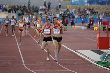 Rababe Arafi wins the 1500m at the Mediterranean Games (Organisers)