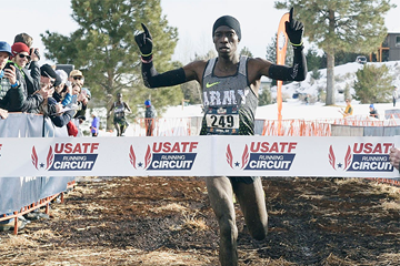 Leonard Korir wins the US cross-country title (Randy Miyazaki)