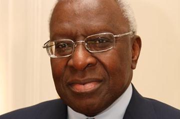 IAAF President Lamine Diack (SEN) (IAAF)
