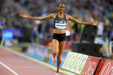 Beatrice Chepkoech wins the steeplechase at the IAAF Diamond League final in Brussels (Gladys Chai von der Laage)
