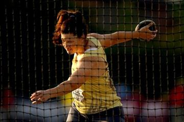 Stephanie Brown Trafton throwing at the US Champs (Getty Images)