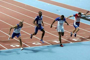 Men's 60m finish - Gardener takes the win (Getty Images)