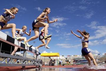 A general view of a Women's 3000m Steeplechase (Getty Images)