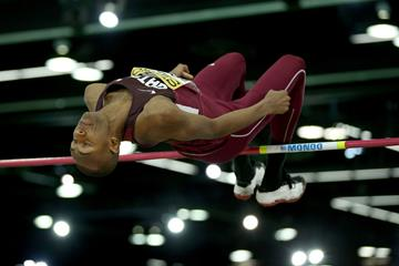 Mutaz Essa Barshim in the high jump at the IAAF World Indoor Championships Portland 2016 (Getty Images)