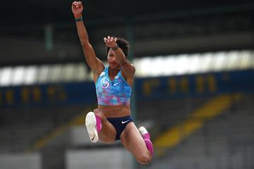 Germany's Malaika Mihambo in action in the long jump (Getty Images)