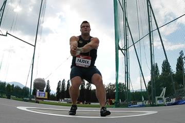 Pawel Fajdek at the 2014 Rieti IAAF World Challenge meeting (organisers)
