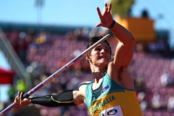 Nash Lowis, winner of the javelin at the IAAF World U20 Championships Tampere 2018 (Getty Images)