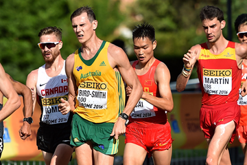 Dane Bird-Smith in the 20km race walk at the IAAF World Race Walking Team Championships (Getty Images)