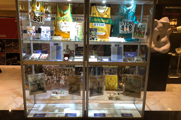 Part of the IAAF Heritage collection on display in Buenos Aires during the ConSudAtle centenary (IAAF)