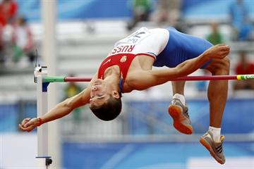 Ilya Shkurenev of Russia competes in the decathlon high jump (Getty Images)