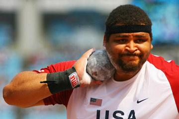 Reese Hoffa of the US in the men's Shot Put (Getty Images)