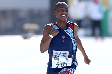 South African sprinter Retshiditswe Mlenga (Roger Sedres)