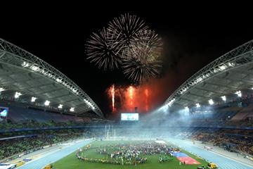 Daegu 2011 - fireworks (Getty Images)