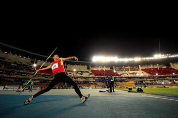 Liu Zhekai in the javelin at the IAAF World U18 Championships Nairobi 2017 (Getty Images)