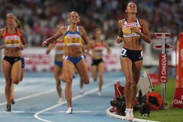 Jessica Ennis wins the 800m to clinch the European title in Barcelona (Getty Images)