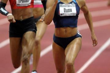 Debbie Dunn improves to 50.86 at the US indoor champs (Kirby Lee)