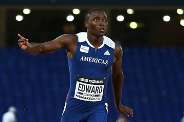 Alonso Edward wins the 200m at the IAAF Continental Cup Marrakech 2014 (Getty Images)