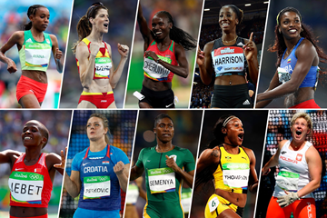 The 2016 World Athlete of the Year women's nominees (Getty Images)
