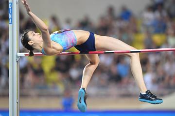 Maria Lasitskene wins the high jump at the IAAF Diamond League meeting in Monaco (Jiro Mochizuki)