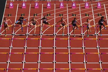 The heptathlon 100m hurdles at the IAAF World Championships London 2017 (Getty Images)