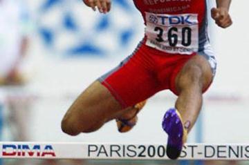 Felix Sanchez in action in the men's 400m Hurdles heats (Getty Images)