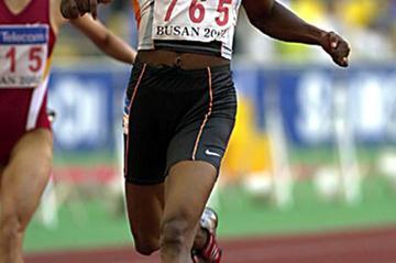 Jayasinghe wins  Asian Games 100m (Gray Mortimore)