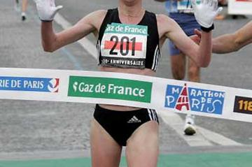 Russian Irina Timofeyeva wins Paris in 2:27:19 (AFP/Getty Images)