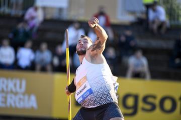 Marcin Krukowski, winner of the javelin at the Continental Tour Gold meeting in Turku (Deca Text & Bild)
