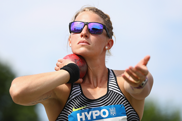 Carolin Schafer in the heptathlon shot put in Gotzis (Getty Images)