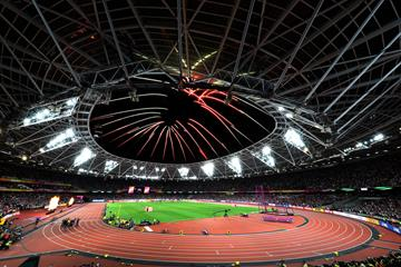 Fireworks are set off at the IAAF World Championships London 2017 (Getty Images)